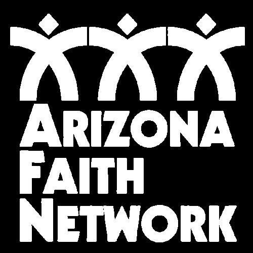 Arizona Faith Network - logo - white - trans